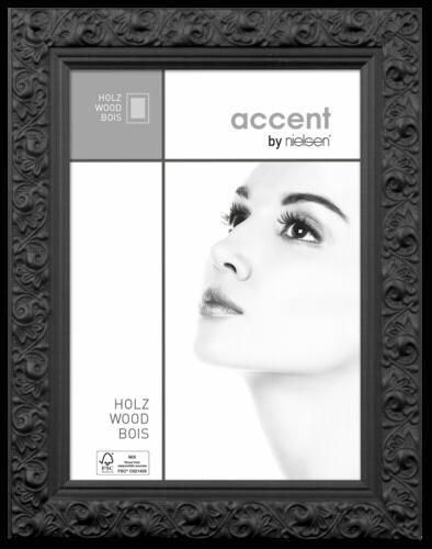 nielsen design nielsen arabesque 30x40 holz portrait schwarz 8530012 nielsen design hardware. Black Bedroom Furniture Sets. Home Design Ideas