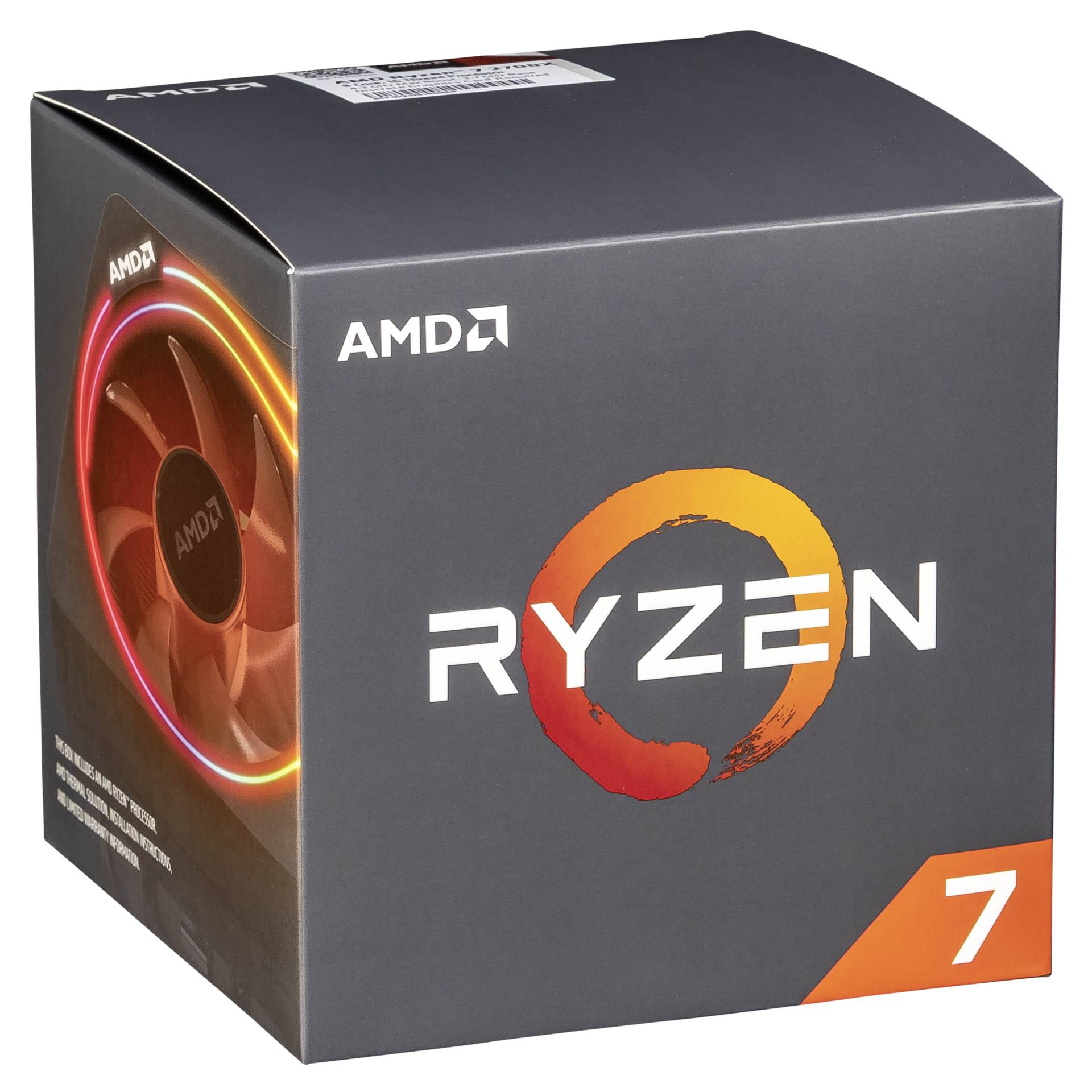 """Amd Gmbh""""AM4 Ryzen 7 8 Box 2700X 4,35 GHz 8xCore 20MB 105W with Wraith Prism cooler"""""""