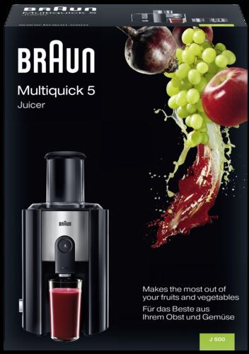 Braun  Multiquick 5 J500 Automatik Entsafter Schwarz  ~ Entsafter Braun
