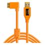 "Tether Tools""TPro USB 3.0 Micro-B Right Angle 4.6m/15 ORG"""