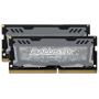 """Ballistix""""Sport LT 32GB Kit DDR4 16GBx2 2666 SODIMM 260pin grey"""""""