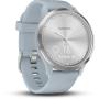 "Garmin""vívomove HR Sport - 43 mm - silber - intelligente Uhr mit Sportband - Silikon - sea foam - Bandgröße 107-177 mm - S/M"""