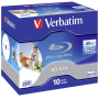 "Verbatim ""1x10 Verbatim BD-R Blu-Ray 50GB 6x Speed printable Jewel Case [DE-Version, Regio 2/B]"""