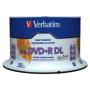 "Verbatim""1x50 Verbatim DVD+R DL wide pr. 8x Speed, 8,5GB Life Series"""