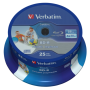 "Verbatim""1x25 Verbatim BD-R Blu-Ray 25GB 6x Speed DL Wide Printable CB"""