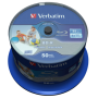 "Verbatim""1x50 Verbatim BD-R Blu-Ray 25GB 6x Speed DL Wide Printable CB [DE-Version, Regio 2/B]"""