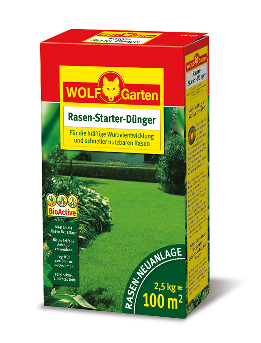 wolf garten lh 100 rasen d nger starter 2 5 kg wolf. Black Bedroom Furniture Sets. Home Design Ideas