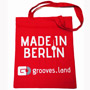 "Grooves.land Merchandise ""cotton bag with long handles/Jute Beutel ""Made In Berlin"""""