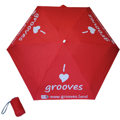 "Grooves.land Merchandise""Mini 5 Folding Umbrella / Mini Taschen-Regenschirm"""